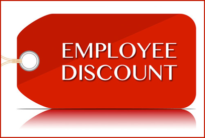employee discount graphic