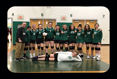 7th Grade Volleyball team 2019 NVJL Tournament Runner-Up