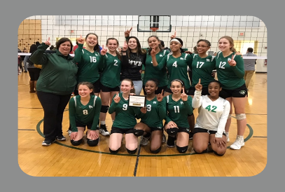 8th Grade Volleyball team NVJL Champions 2019