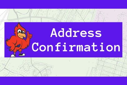 Address Confirmation with JKES cardinal Mascot