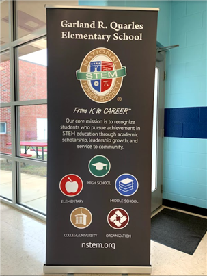 GQES National Stem Honor Society banner