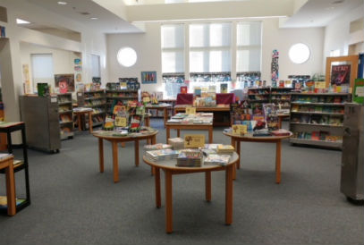 Book Fair set up in the FDES Library