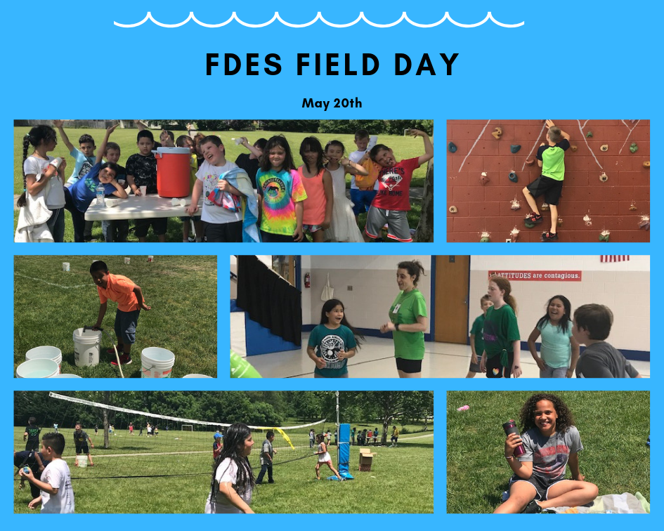 students at FDES Field Day