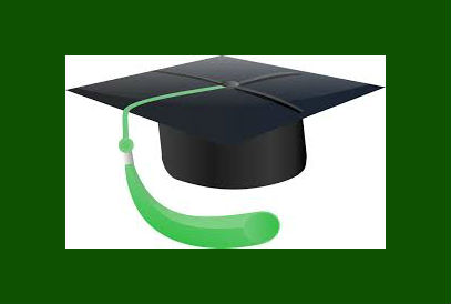 Graduation Hat with green tassle