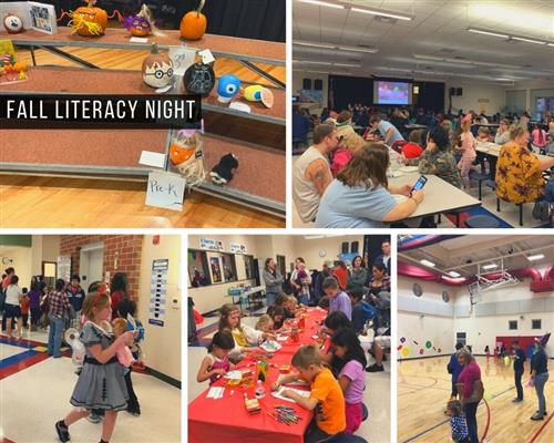 students and families at Fall Literacy Night