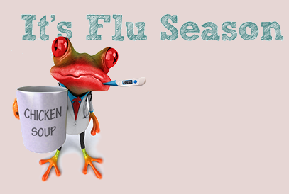 It's Flu Season graphic