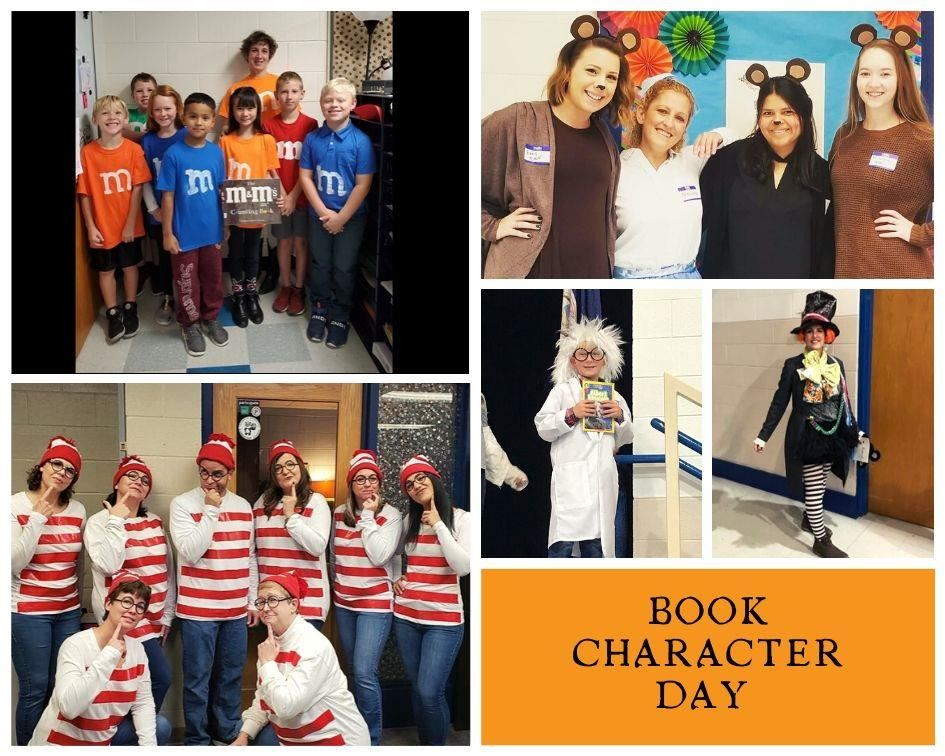 Students and Staff Dressed as Book Characters