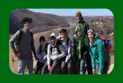 Picture of DMMS Adventure Club taking it's first hike