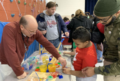 students and adults at STEAM Night