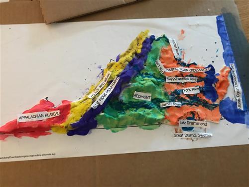 FDES 4th Grade Map Making Making Salt Dough State Maps on 3d salt-dough maps, social studies maps, salt-dough landforms maps,