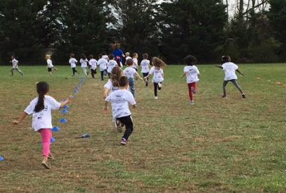 students running in the Panda Fun Run