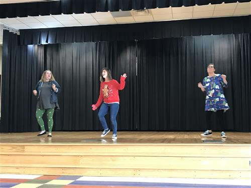 teachers dancing