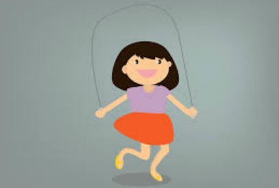 Clipart of a girl jumping rope