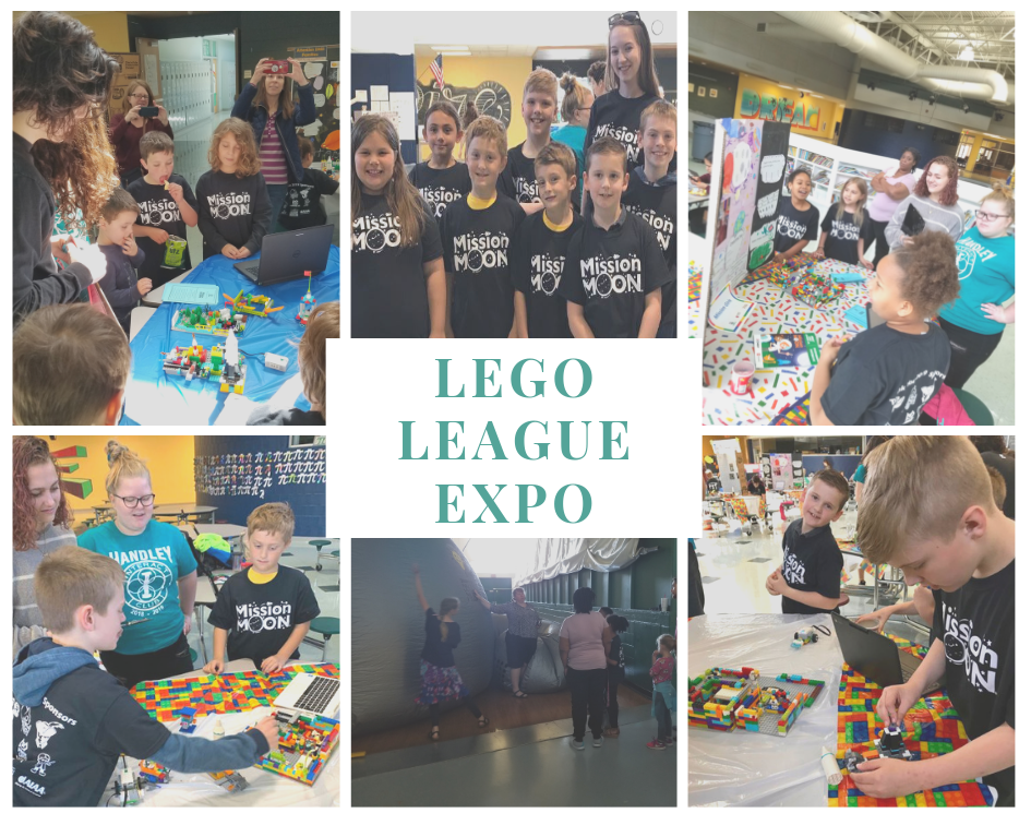 students at the Lego League Expo