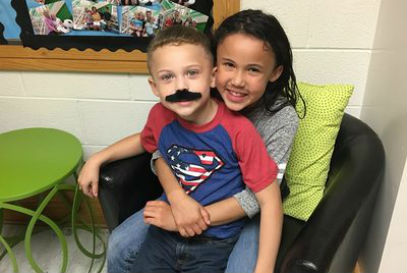 Students celebrate Mustache Day