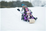 Pic of family sledding