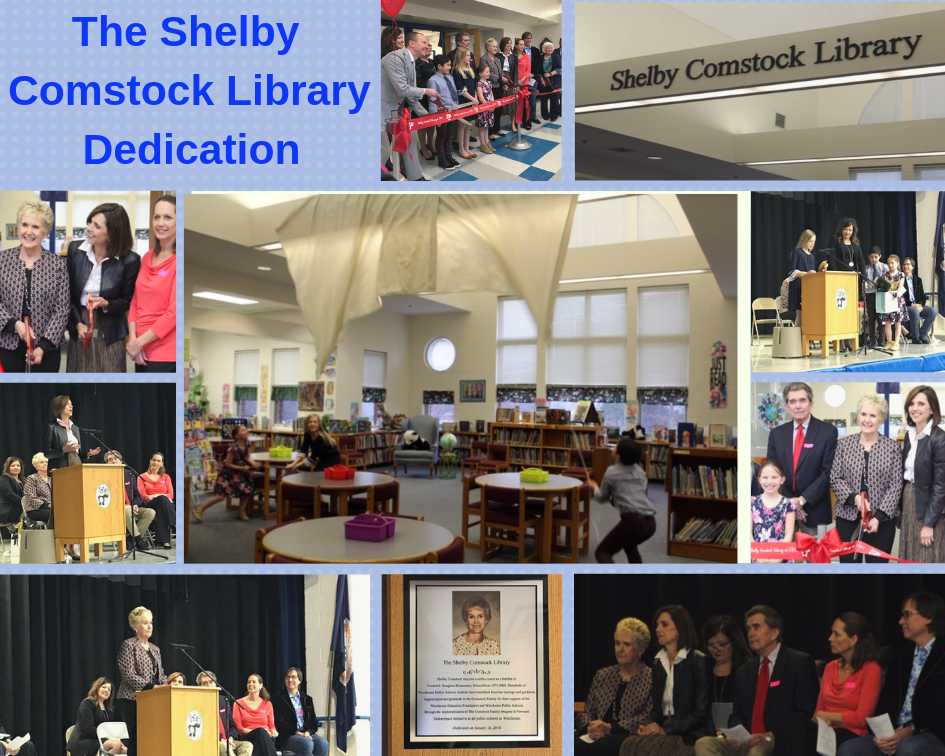 photographs from The Shelby Comstock Library Dedication