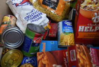 boxed and canned food items