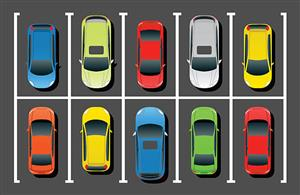 image of cars parked in a parking lot