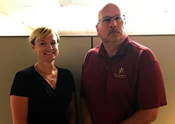 Katie Rice (WPS CTE Coordinator) and Mike Perry (Perry Engineering)