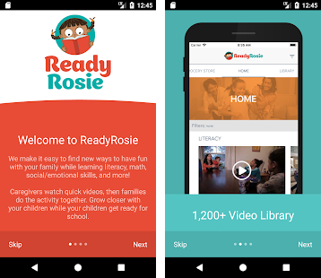 ReadyRosie phone display
