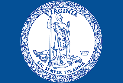 Seal of Virginia background
