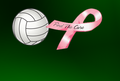 Volleyball and Cancer ribbon