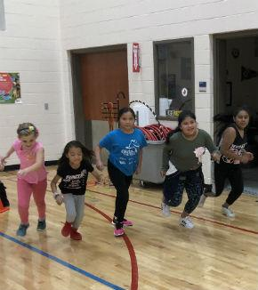 Girls on the Run practice
