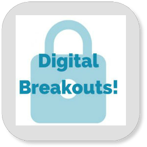 Digital Breakouts icon with a blue lock