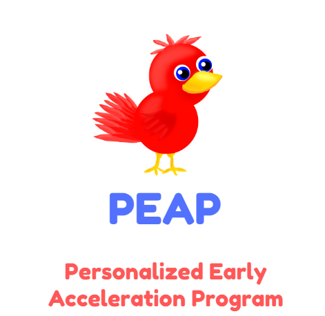"red bird logo ""PEAP Personalized Early Acceleration Program"""